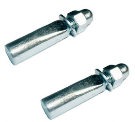 "Pair of Standard 9.5mm 3/8"" Cotter Pins for Cottered Cycle Bike Crank Chainwheel"